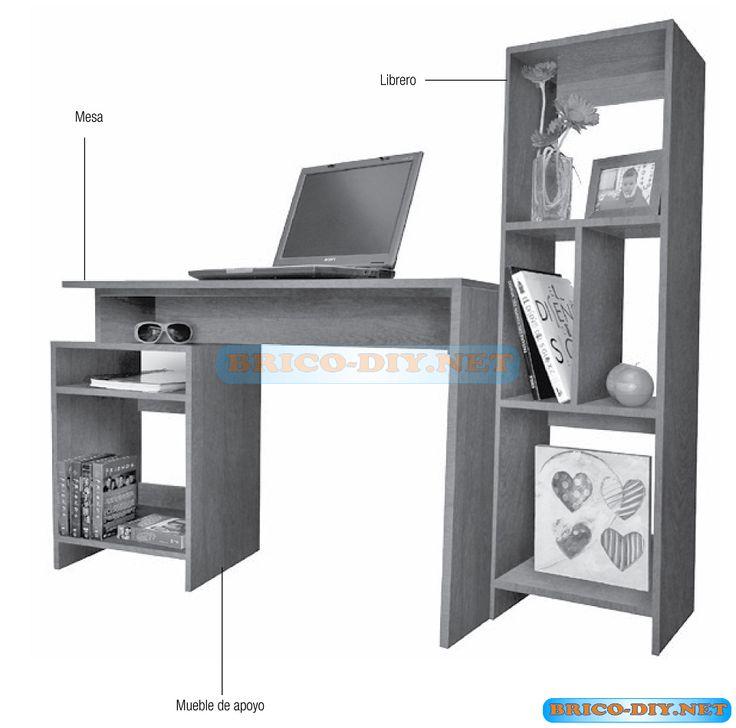 C mo hacer un escritorio de melamina hola amigos este for Programa para disenar muebles de melamina