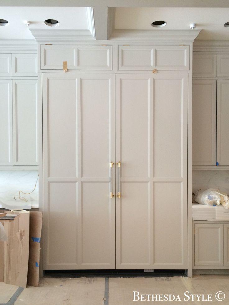 #BethesdaStyle ~ #Lobkovich ~ Miele Refrigerator and Freezer ~ Cabinets by Lobkovich Inc. Kitchen Designs www.Lobkovich.com