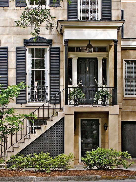 36 best images about savannah ga on pinterest gardens for Townhouse exterior