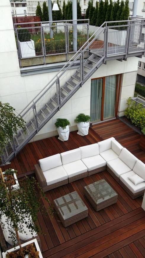 Las 25 mejores ideas sobre barandales para terrazas en for Escalera de bloque de jardin