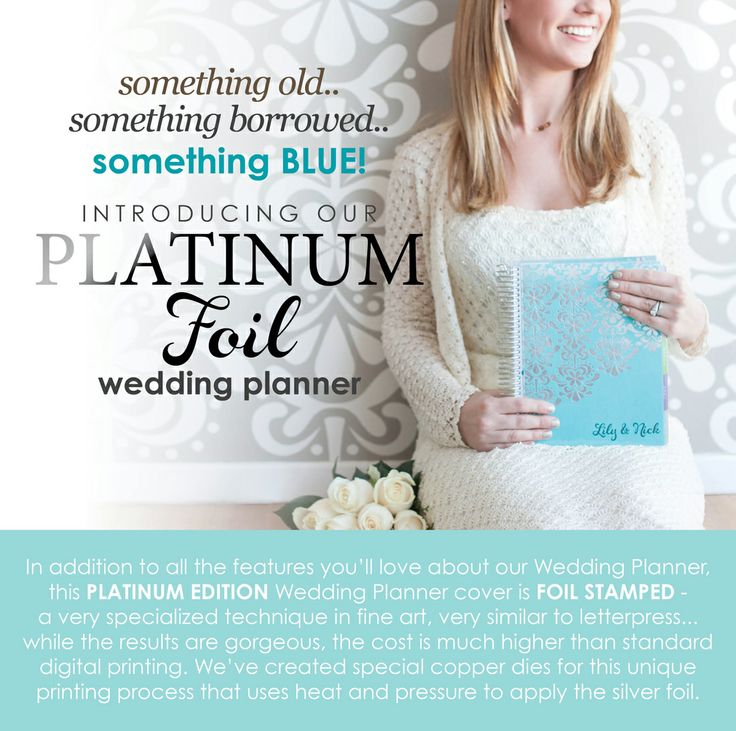 By Erin Condren Were So Excited To Introduce Our Platinum Edition Foil Stamped Wedding Planner