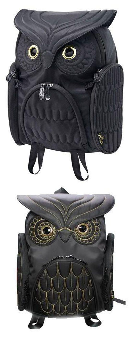Unique Cool Owl Shape Solid Computer Backpack School Bag Travel Bag is my sister gift. #owl #backpack #Bag #travel