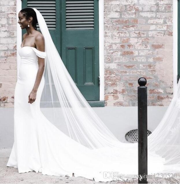 Plain White Mermaid Wedding Dresses Off Shoulder Court Train African Garden Country Church Bridal Gowns Vestido De Novia Plus Size Cheap Wedding Dresses Mermaid Wedding Dresses Vestido De Novia Online with $158.83/Piece on Yimi1230520's Store | DHgate.com