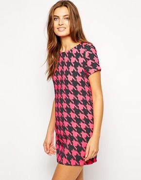 AX Paris Shift Dress In Dogstooth