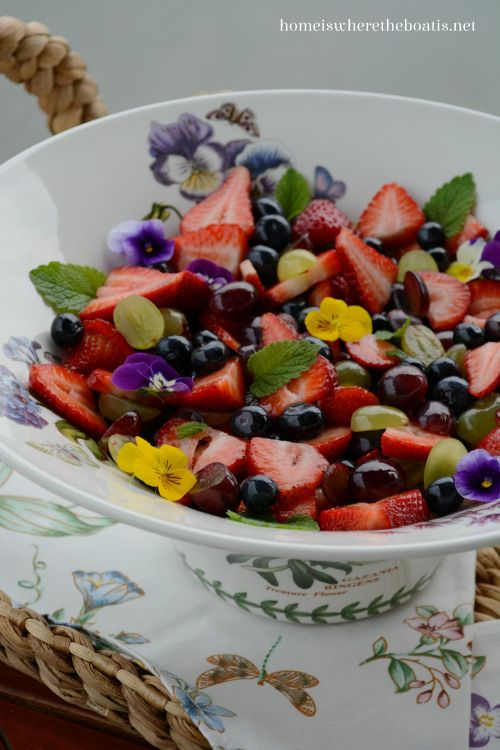 Berrylicious Fruit Salad with Orange-Vanilla Syrup | Home is Where the Boat Is