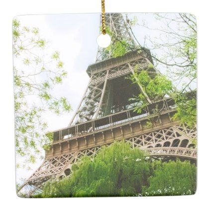 Eiffel Tower Ceramic Ornament - spring gifts beautiful diy spring time new year