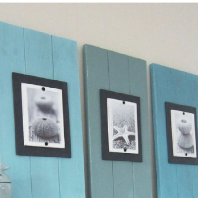 Wood plank wall art beach decor for the home for Wall decorations for the home