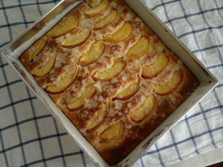 Yummy nectarine cake..