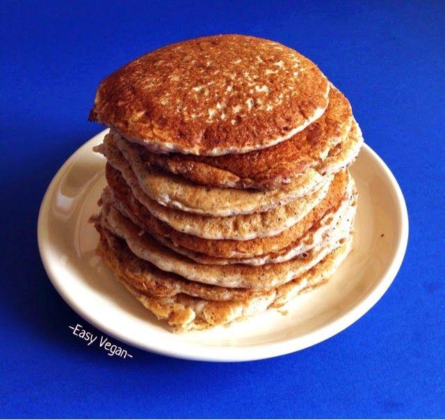 Easy Vegan - ricette vegan e fai-da-te green: Pancakes soffici di miglio con crema al baobab, marmellata di chia e bacche di goji