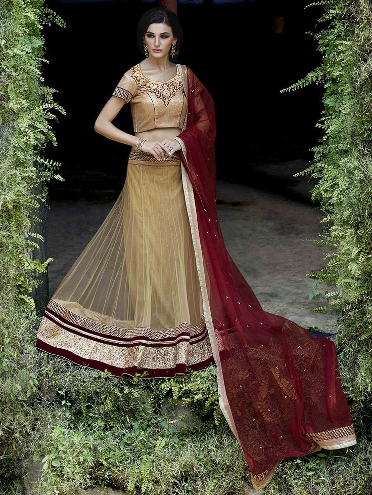 Buy Red Net Lehenga Choli with Embroidery Work Online at Best Price for Women - CCAA1144 - Saree.com