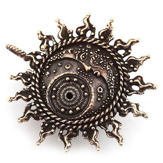 Crescent moon Celestial jewelry sun necklace silver pendant