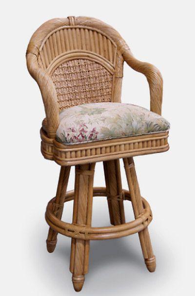 Palm coast wicker bar stool capris furniture series 365 for Beach craft rattan furniture