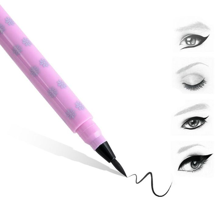 Fashion Dolly Knipoog Vloeibare Eyeliner Potlood Diepe Zwart Waterdicht Oogschaduw Pen Up Pro Tool NA984