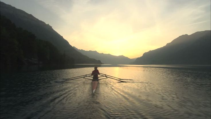 The Lake Brienz / Rowing-boat / Bernese Alps / Switzerland Stock Video Footage Collection with 15 high-quality HD Stock Video Shots is ready for instant licensing and customized download