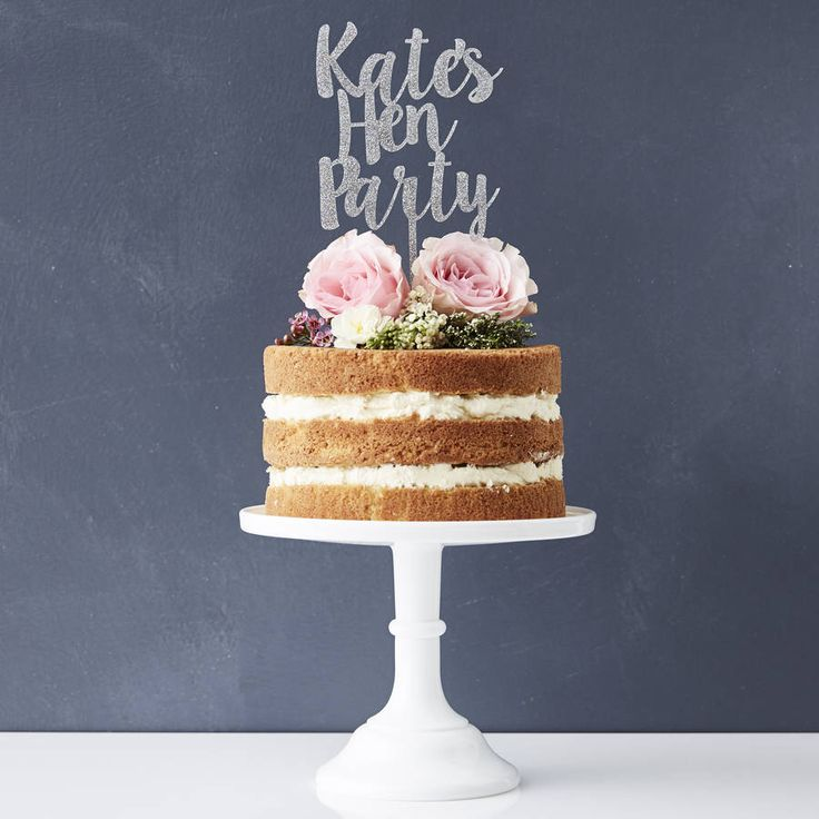I've just found Hen Party Personalised Cake Topper. A wonderful personalised hen party cake topper. Perfect as an extra special hen party decoration!. £23.00