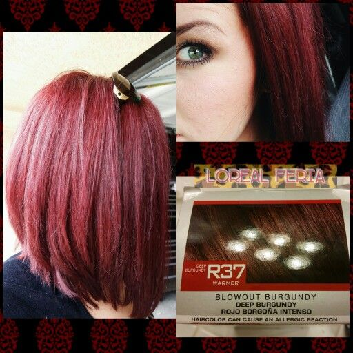 Loreal Feria, Blowout Burgundy, red hair rocks