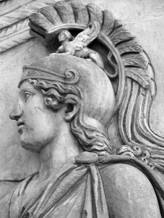 Detail of the Goddess Roma, from the base of the Column of Antoninus Pius