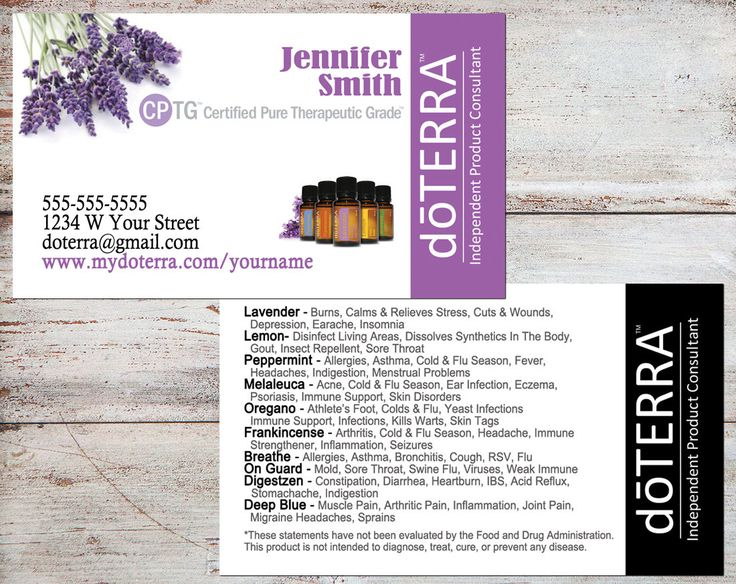 doTERRA Business Cards, doTERRA Lavender, doTERRA Cards, Essential Oil Business Cards, Personalized Business Cards, Digital File or Printed by toadallydigital on Etsy
