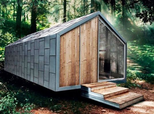 Prefabricated Hangar Homes are Micro Houses on Wheels @Michael Dussert Dussert Dussert Dussert Koster