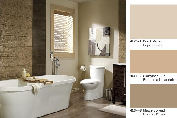 Sweet colours for a chic bathroom de douces couleurs pour une chic salle de bains salle - Couleur de peinture pour salle de bain ...