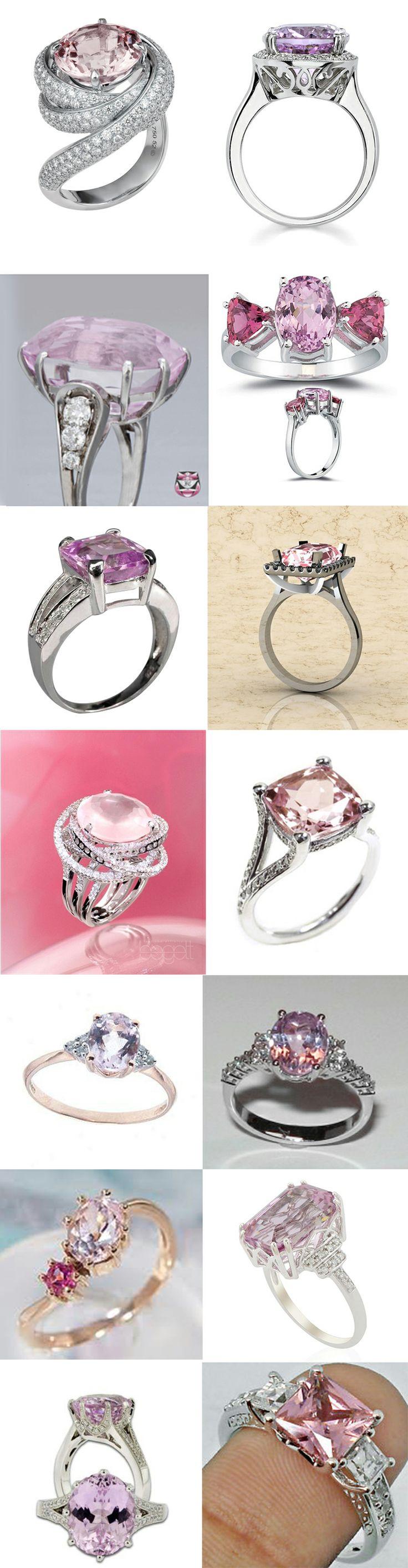 Beautiful Kunzite Rings