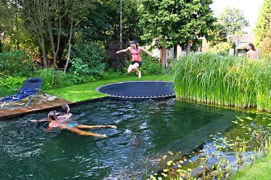 Forget slides, and say hello to the trampoline.