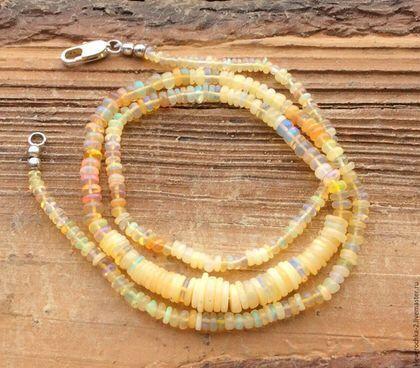 Для украшений ручной работы. Ярмарка Мастеров - ручная работа. Купить .Опал Эфиопский нить 46,5 см огненный натуральный бусины камни. Handmade.