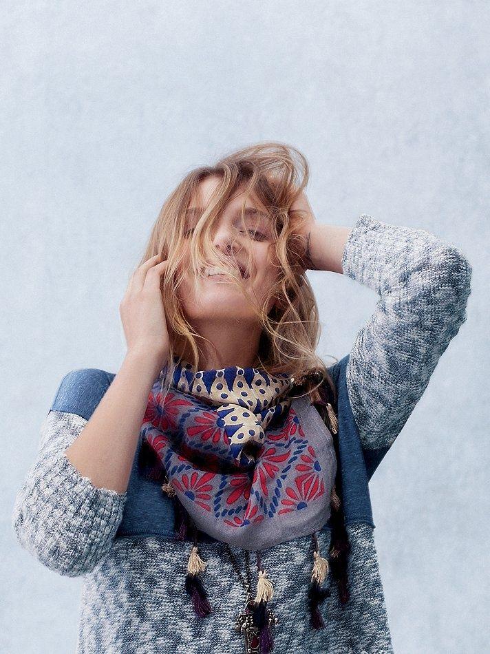 sweater + scarf.