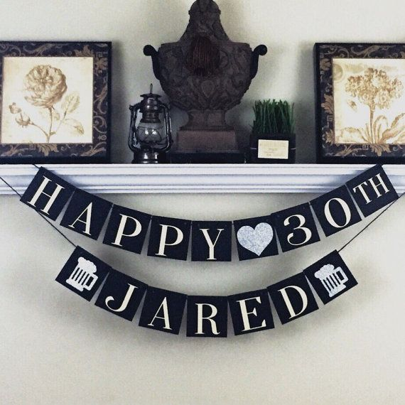 30th Birthday Banner Personalized Birthday by WeefersDesigns