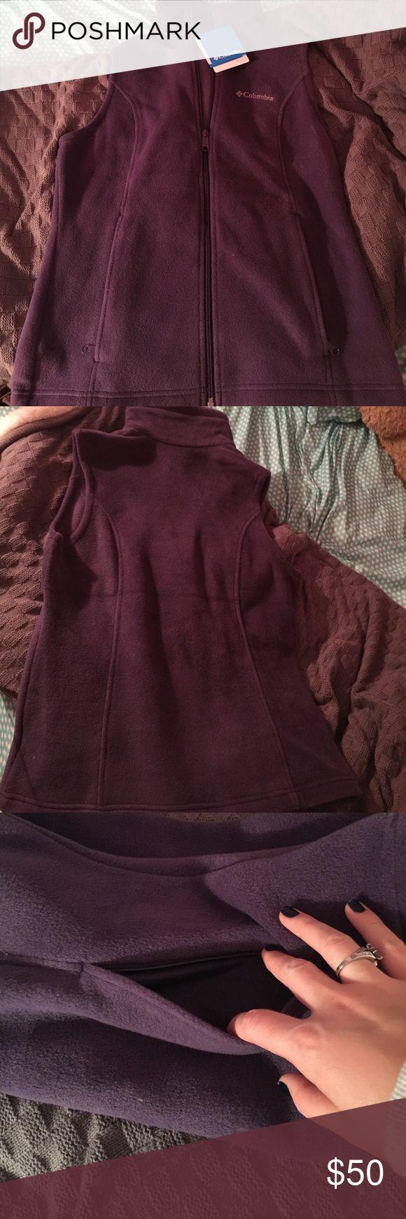 💁🏼Colombia Fleece Vest💁🏼 Brand New dark purple vest. Fleece and super soft. Never worn. Columbia Jackets & Coats Vests