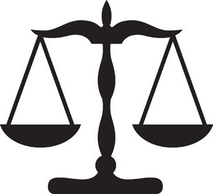 scales of justice... let no one take advantage of kindness