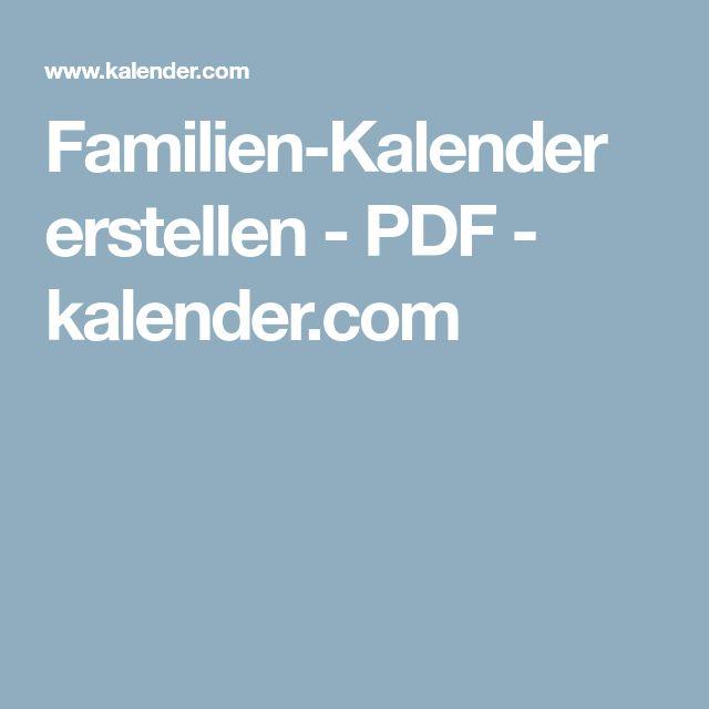 Familien-Kalender erstellen - PDF - kalender.com
