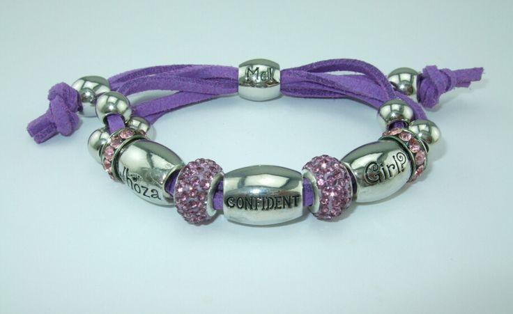 Whoza CONFIDENT Girl? Light Purple Shamballa Bracelet.