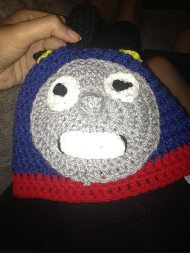 Free Crochet Hat Pattern For Thomas The Train : 29 best images about Crochet Thomas the train beanie on ...