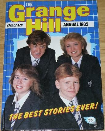 "The Grange Hill Annual 1985 ft. Suzanne Ross, Christopher ""Stewpot"" Stuart, Claire Scott and Douglas ""Pogo"" Patterson."
