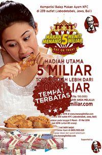 Kompetisi Balap Makan KFC http://www.perutgendut.com/read/kompetisi-balap-makan-kfc/563 #PerutGendut #Event #KFC