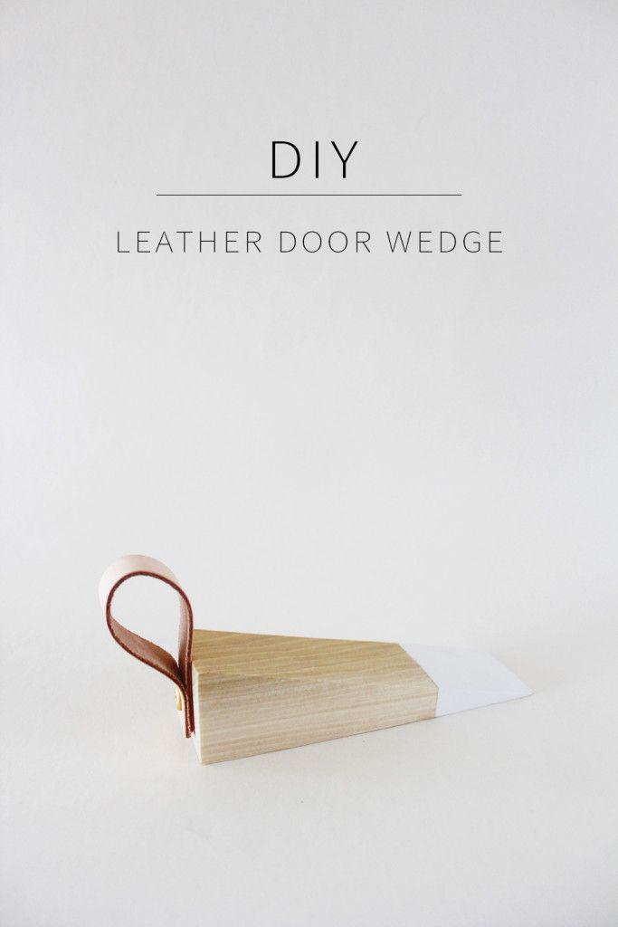 DIY Leather Door Wedge