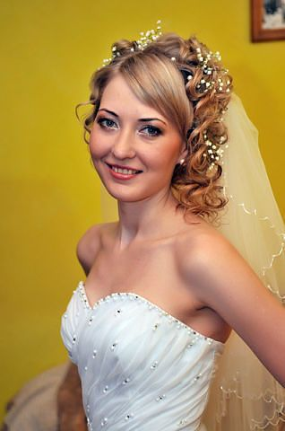 Wedding Hairstyles With Braids And Bangs : 17 best wedding hair images on pinterest