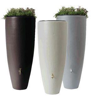 Design regentonnen winkel | Regenton kunststof met plantenbak