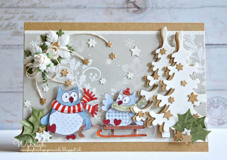 Cards made by Wybrich: Marianne Design challenge 114