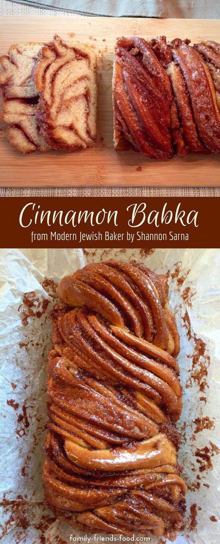 Sweet, delicious, gooey cinnamon babka recipe, taken from Shannon Sarna's book Modern Jewish Baker. (Plus a review of this lovely recipe book.) #jewish #baking #cake