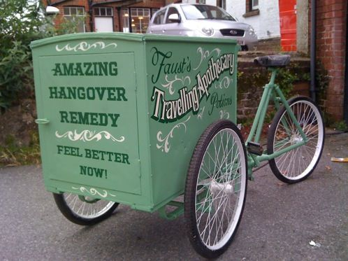 Restored shop tricycle - Osborne Signs, UK