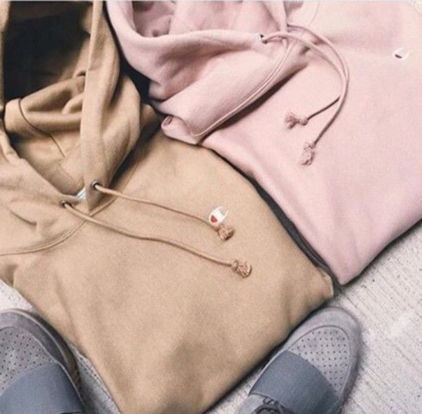 jacket cropped hoodie hoodie champion cute pink sweater long sleeves