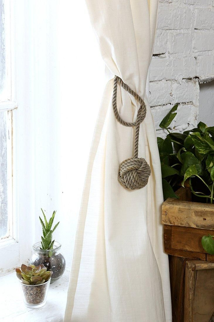 Nautical nursery curtains - 4040 Locust Nautical Knot Curtain Tie Back Urban Outfitters