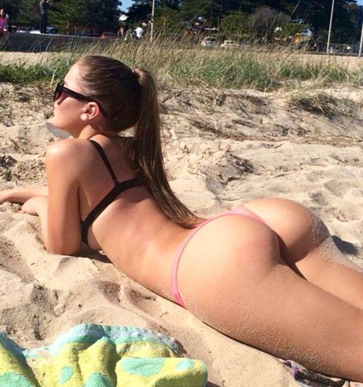 Sexy Girl Laying Down Sunbathing
