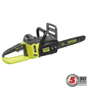 Ryobi 14 in. 40-Volt Brushless Lithium-Ion Cordless Chainsaw - 1.5 Ah Battery and Charger Included RY40511 at The Home Depot - Mobile