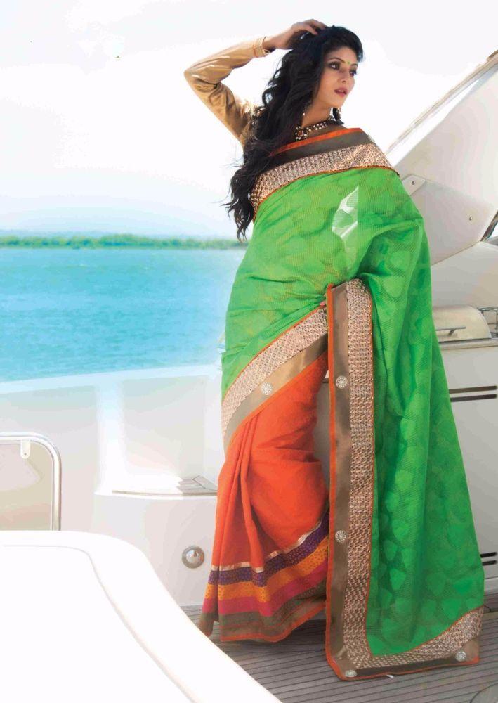 Buy 1 Get 1 Free Ethnic Partywear Designer Indian Pakistani Sari Dress Bollywood #kriyacreation