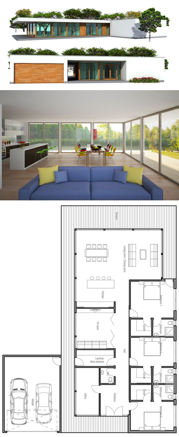 Fine 17 Best Ideas About Small Modern House Plans On Pinterest Modern Largest Home Design Picture Inspirations Pitcheantrous