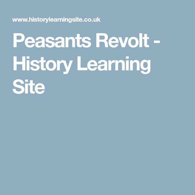 Peasants Revolt - History Learning Site