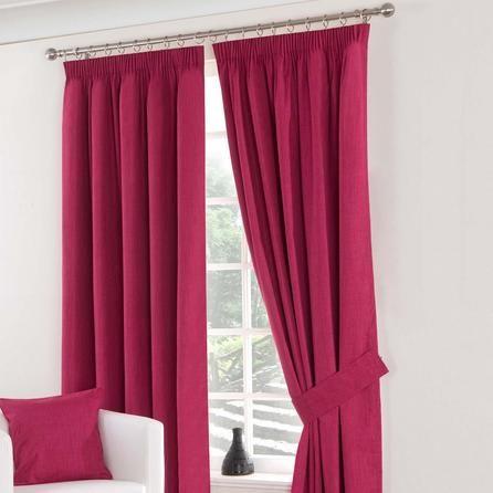 Dunelm Solar Blackout Pencil Pleat Curtains in Fuchsia Pink (228cm x 182cm)